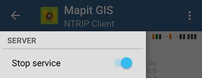 Start/Stop RTK Service