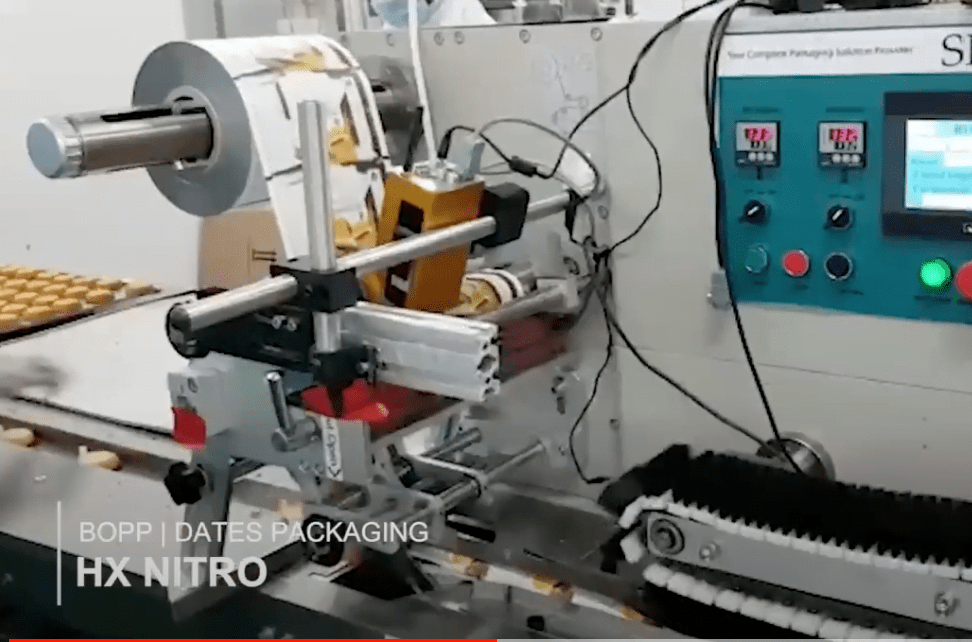 Printing on flexible packaging with Hx Nitro industrial TIJ printer