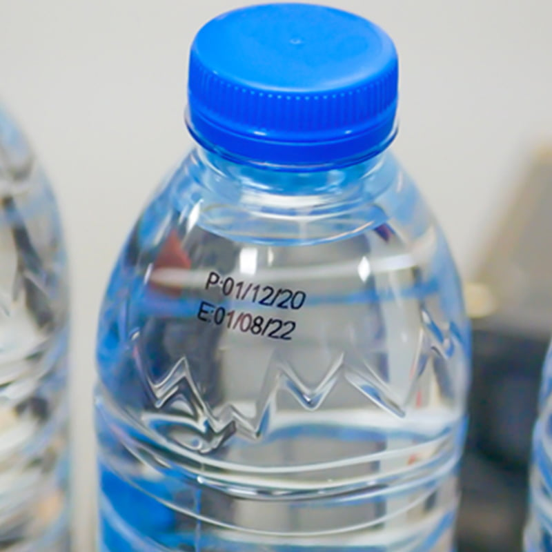 Printing on Plastic PET Bottle
