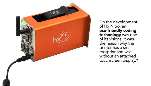 Hx Nitro TIJ Coding Technology is an eco-friendly printer