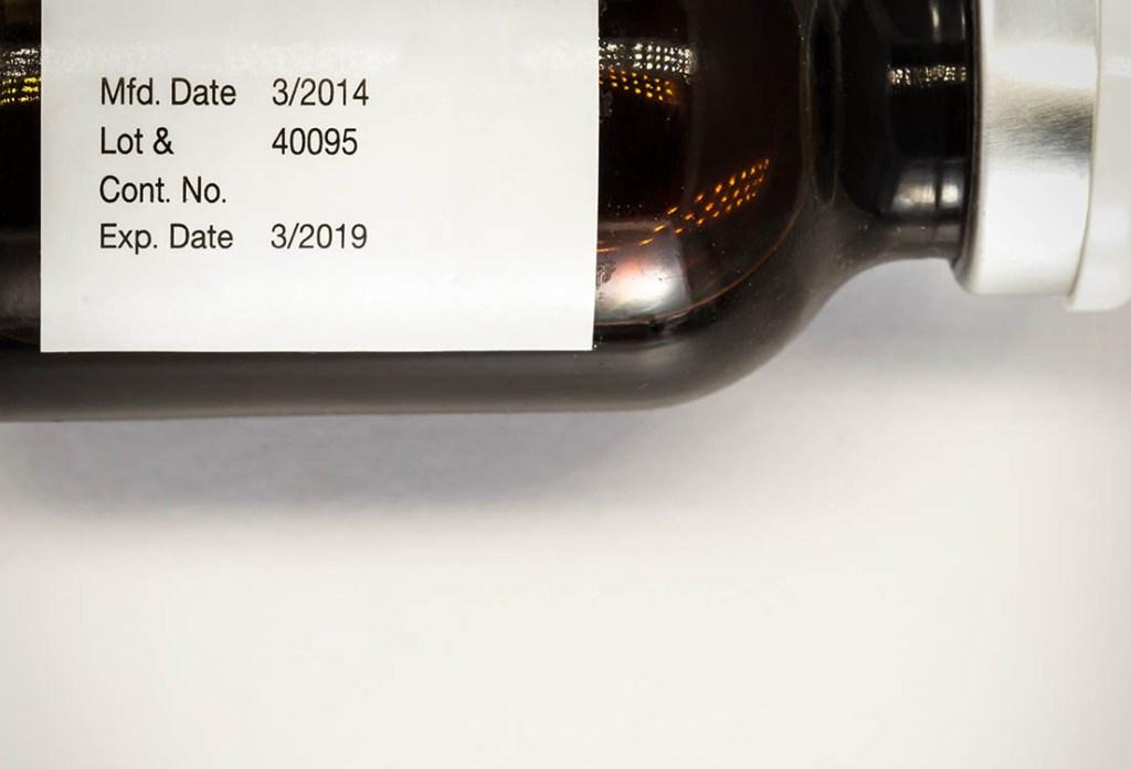 lot code on medicine bottle label