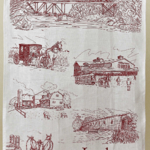Mennonite Village St. Jacobs on Linen Tea Towel