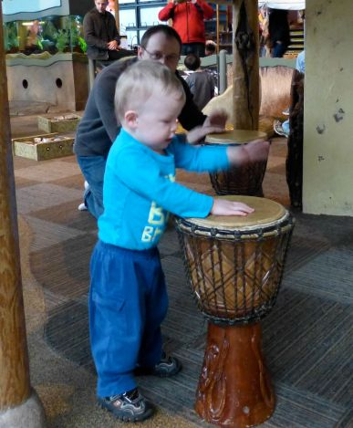 Drumming with Daddy