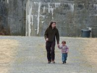 Walking at Fort Casey