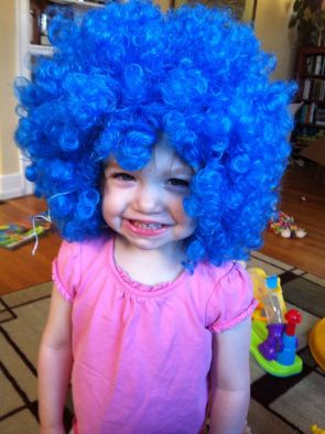 "A blue ""hat""!"
