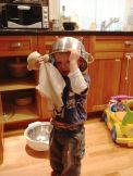 Helmet Boy rides again!