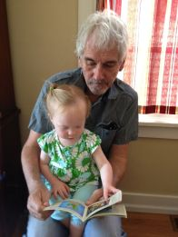 Reading with Uncle Kevin.