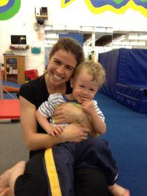 With Ellen at gymnastics