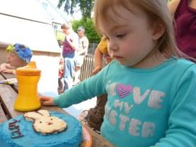 Blue bunny cake!