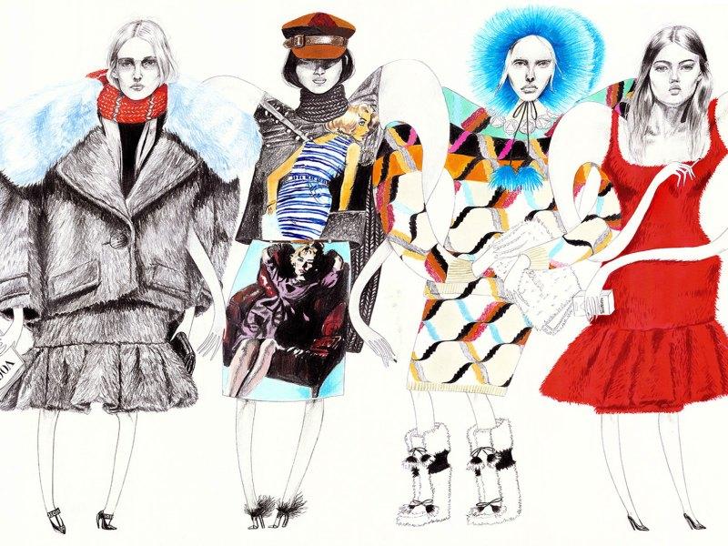 Moda a lápiz y papel