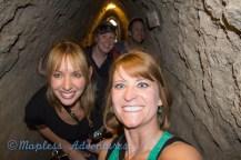Walking through the tunnel