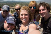 Group Selfie at the top of the Pyramid of the Sun