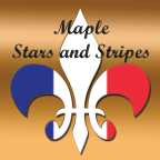 Maple Stars and Stripes fleur-de-lis logo