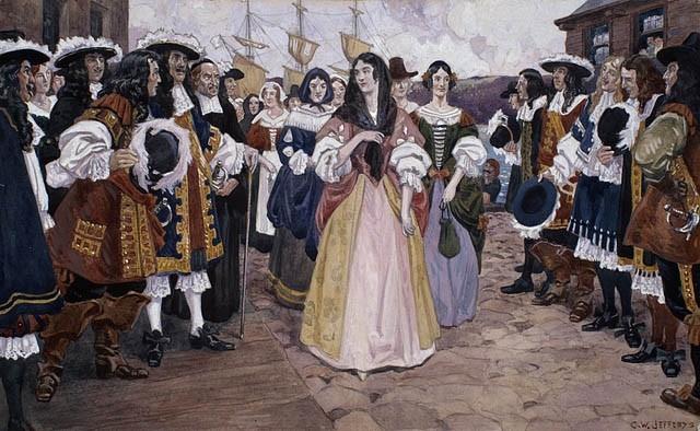 L'arrivée des jeunes filles françaises à Québec, 1667