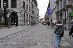 Montreal's cobblestone streets