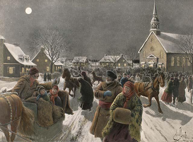 Le retour de la messe de minuit