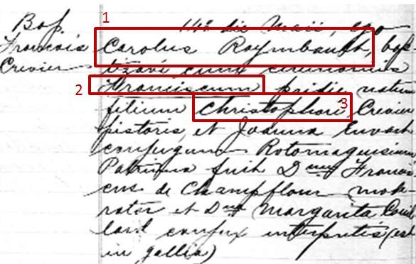 Baptism Record-François Crévier