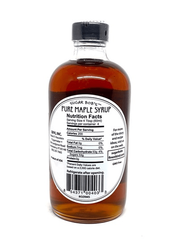 Sugar Bob's finest Kind Pur eMaple Syrup