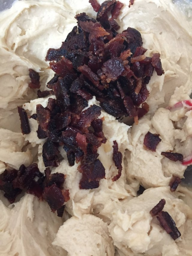 Add bacon to dip