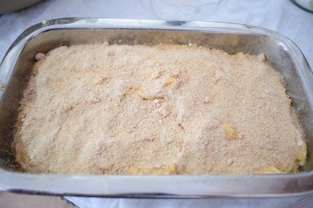 Topped dough