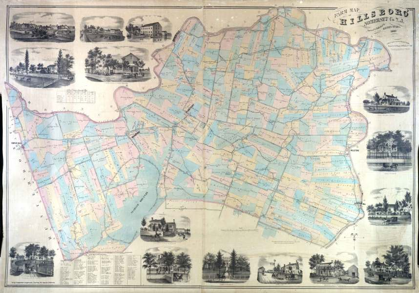 Historical Hillsborough Farm Map 1860