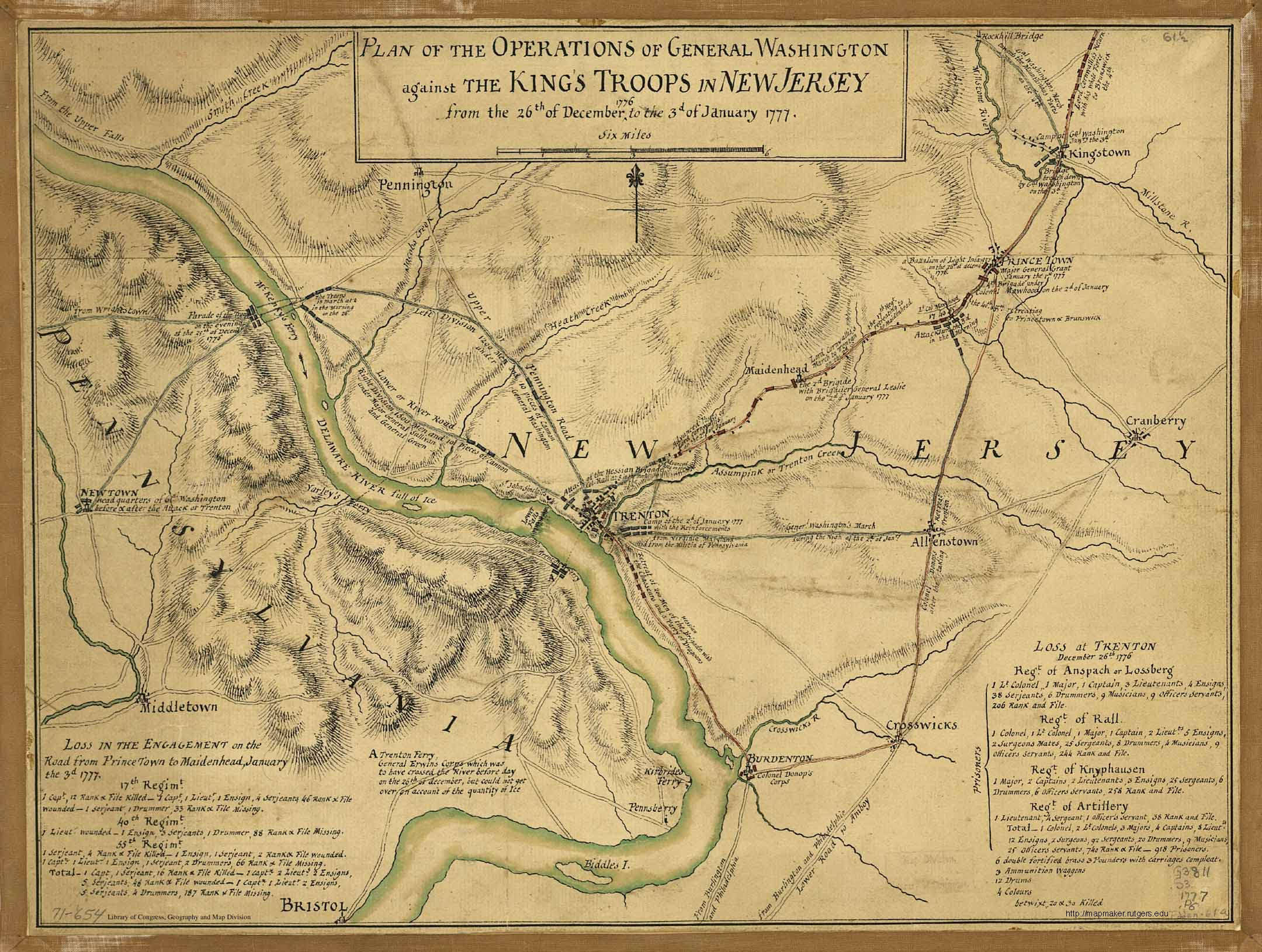 Plan Of The Operations Of General Washington Against The