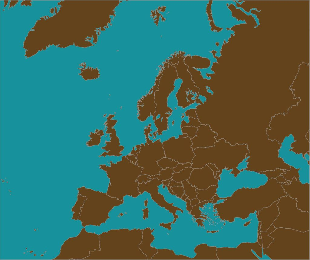 Blank Map Of Europe Map Of Europe