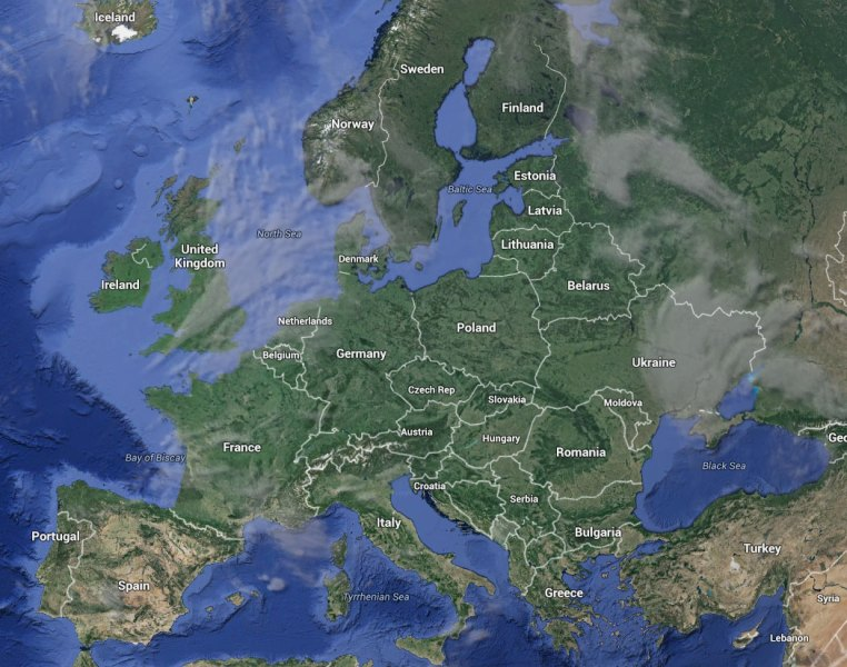 Europe   Google Earth and Google Maps