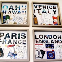 DIY vacation memento box frames