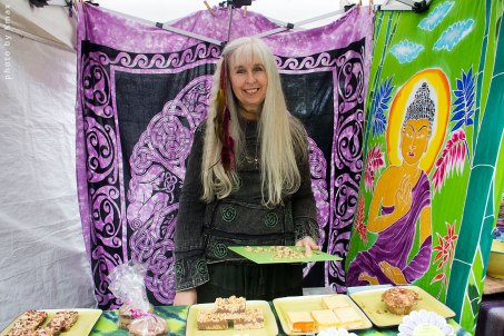 Arial selling home made treats at the Salt Spring Saturday Market
