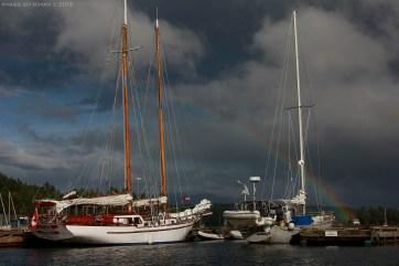 Solstice Schooner in berth Ganges Harbour, BC Canada