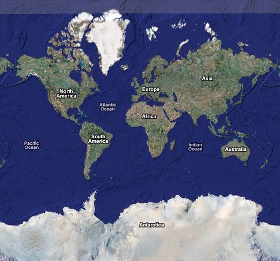 Quel planisphère de référence pour Google Maps ? (3/6)