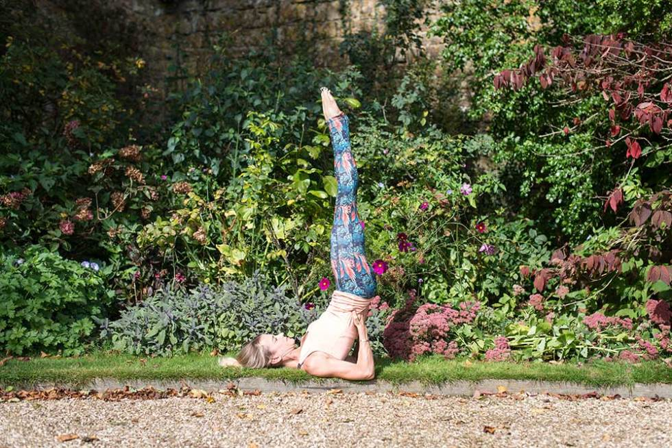 Supported Shoulder-Stand - yoga poses to increase blood flow on your wedding day