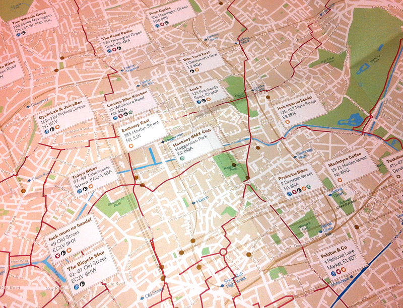 London Cycle Guide     A Mini Map   Mapping London bcm cyclemap