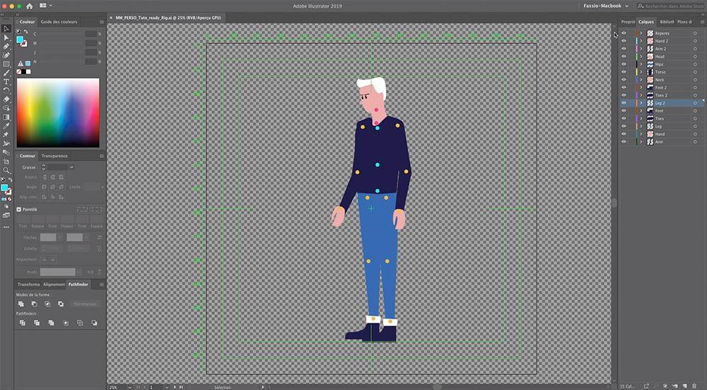 Préparation du fichier Illustrator pour After Effects
