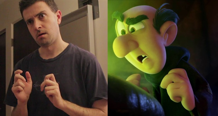 David Badgerow montre son jeu d'acteur pour créer des références visuelles