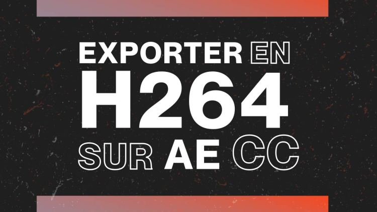 Mapping Motion - Comment exporter en h264