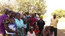 Holly Heintz Budd and some of the CRS Farmer to Farmer participants in Muvwa Village, Mbeya, Tanzania