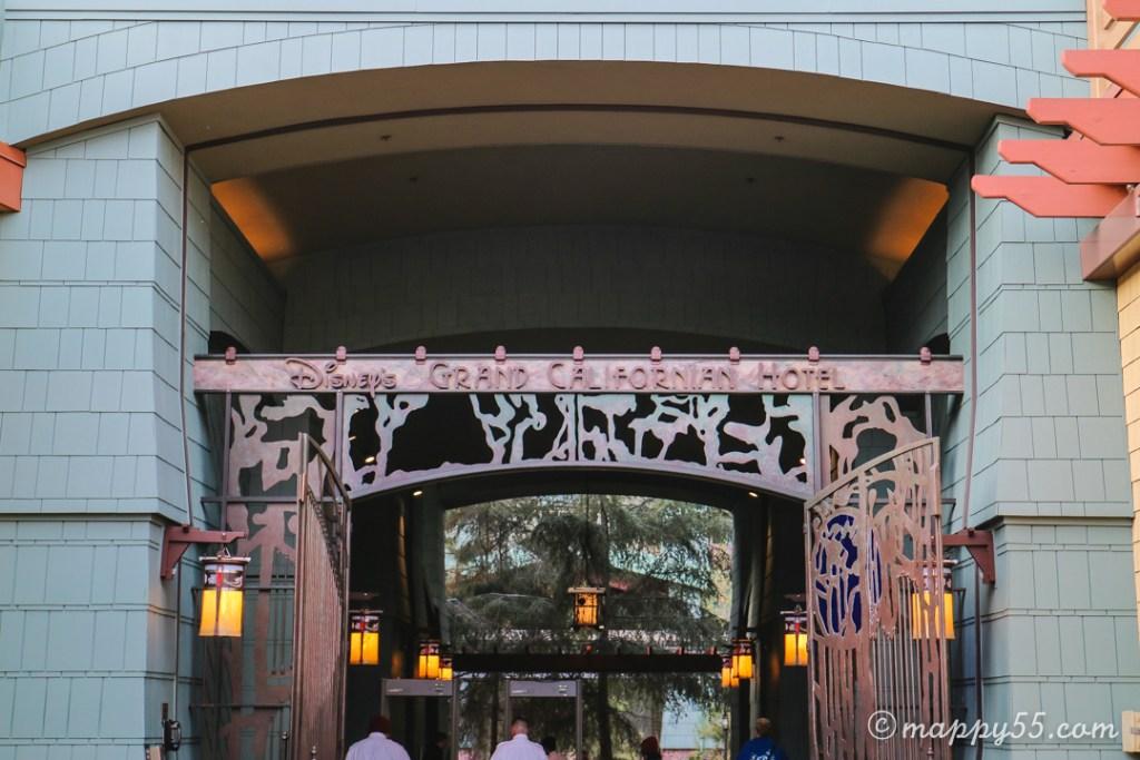 アナハイムディズニー カリフォルニアディズニー ディズニーホテル グランドカリフォルニアン