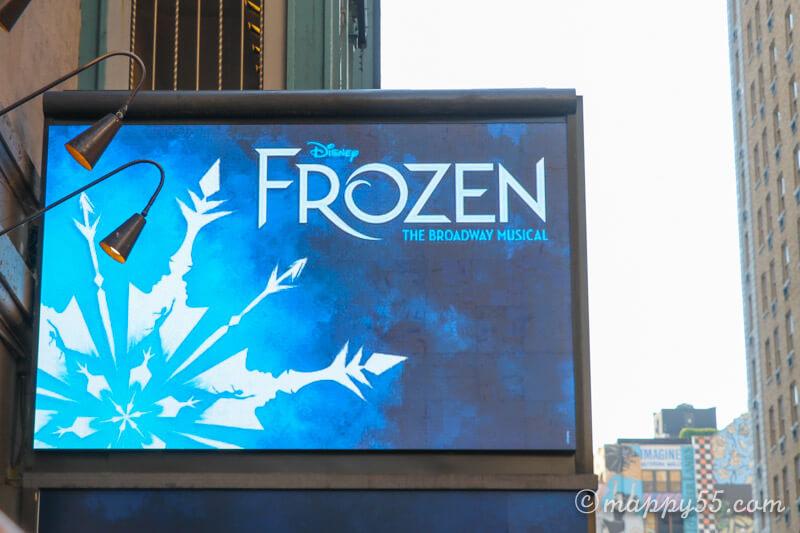 ブロードウェイのミュージカルFrozen 、アナと雪の女王
