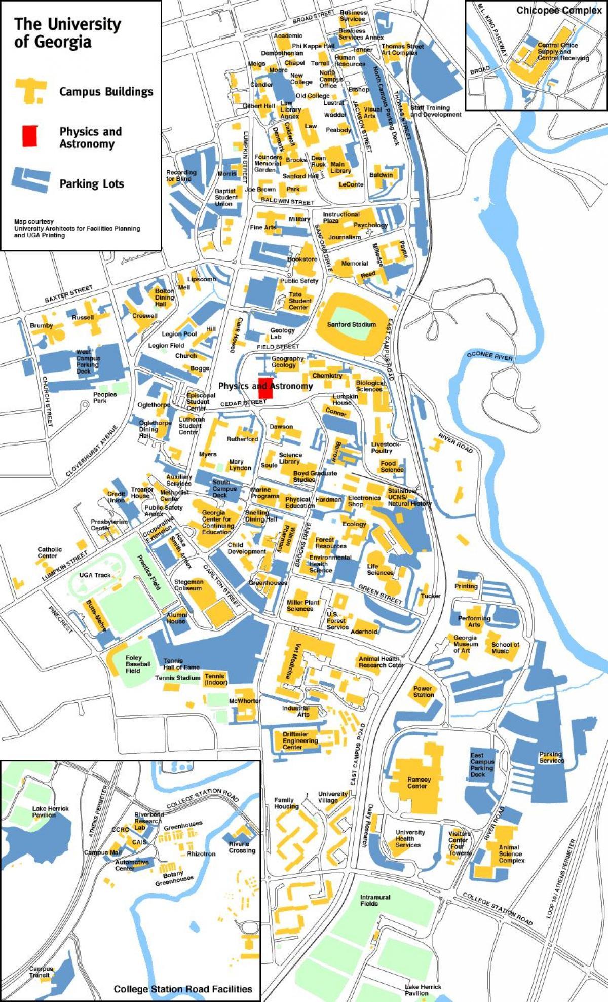 Uga Campus Map