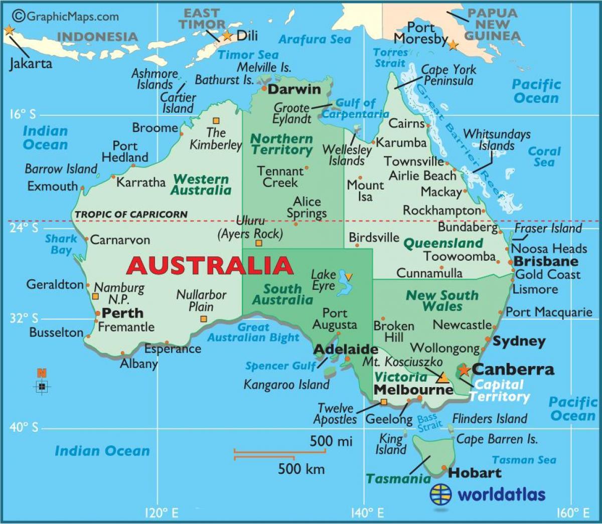 Capital Australia Worksheet