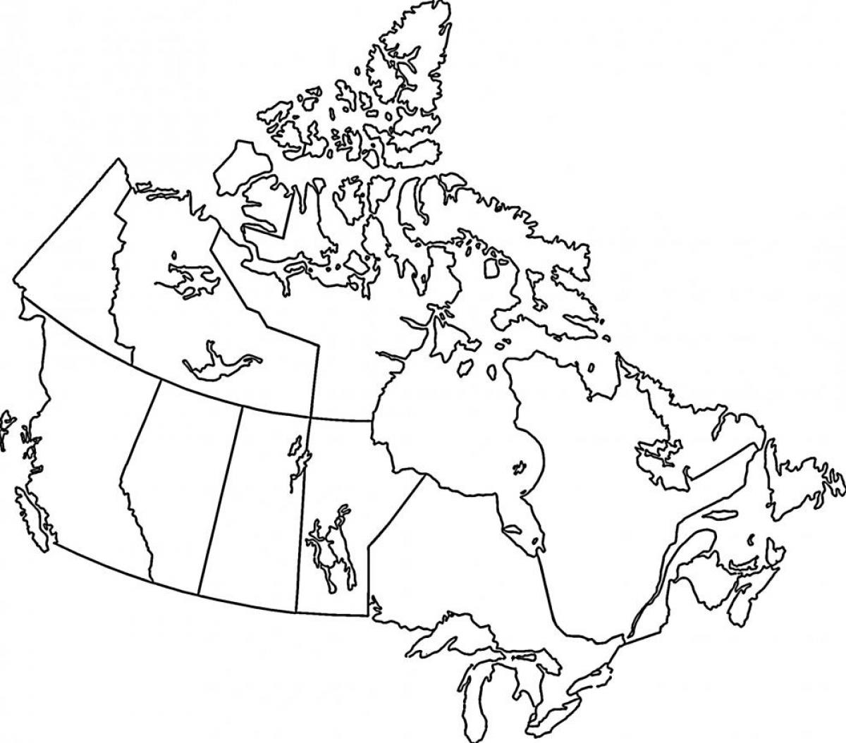 Map Of Canada Colouring Page