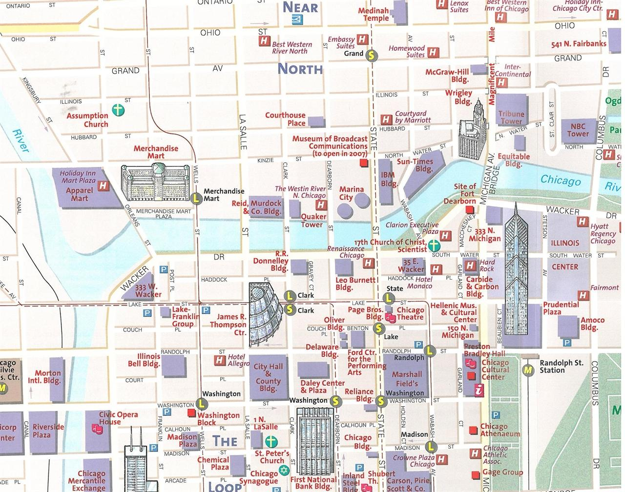 Chicago Map Printable.Downtown Chicago Map Printable Map Of The United States