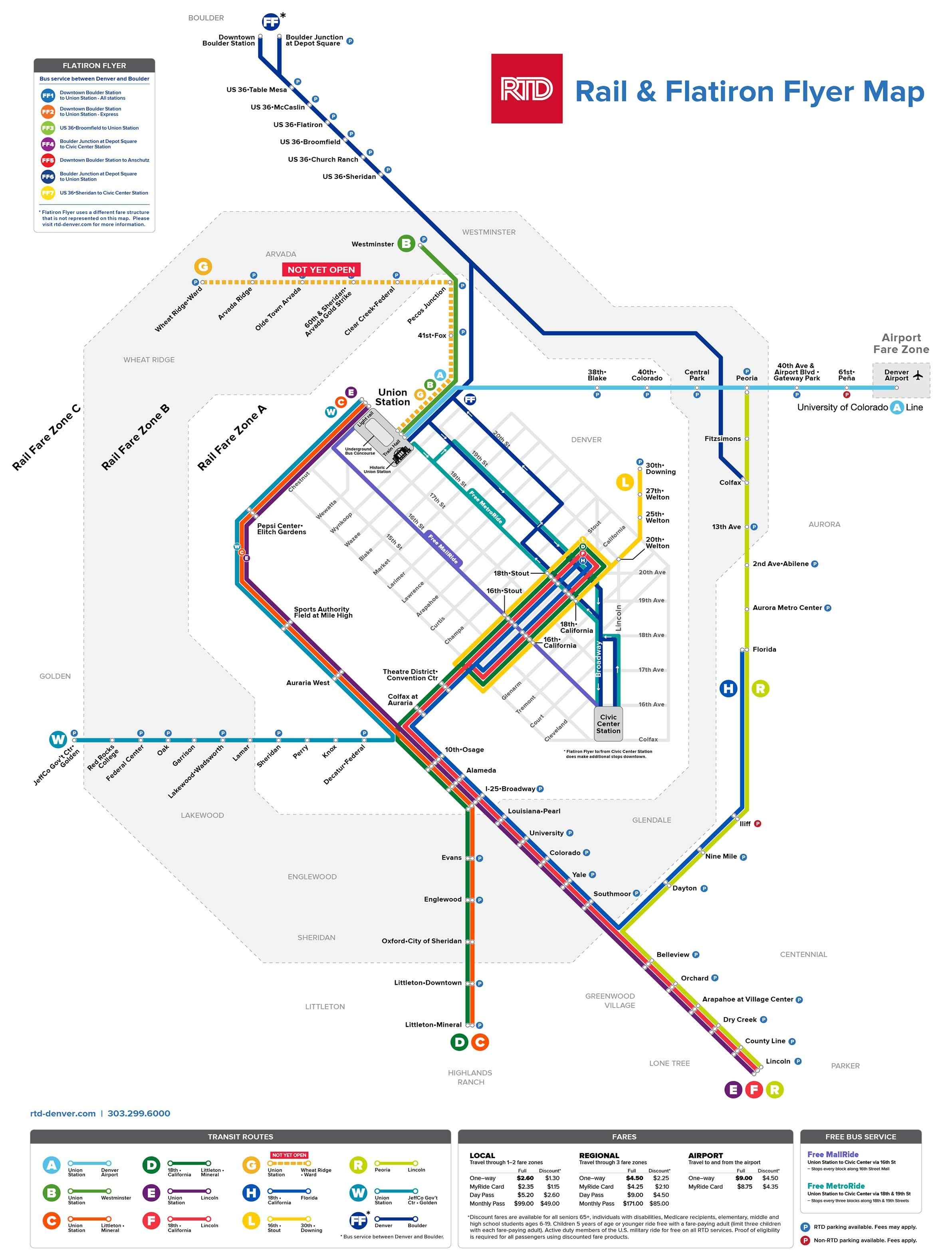Rtd Light Rail Map