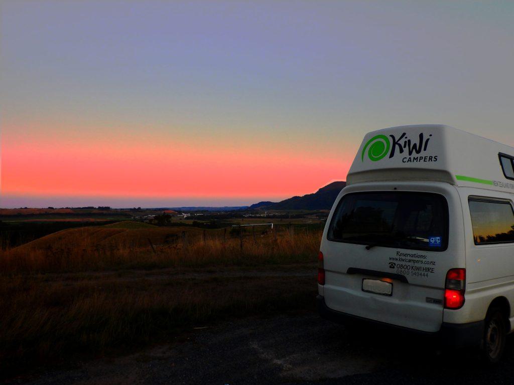 Camper Neuseeland sunset