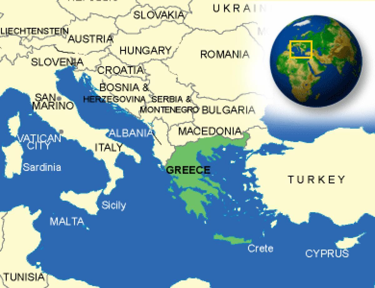 Greece country map   Map of Greece and neighbouring countries     map of Greece and neighbouring countries