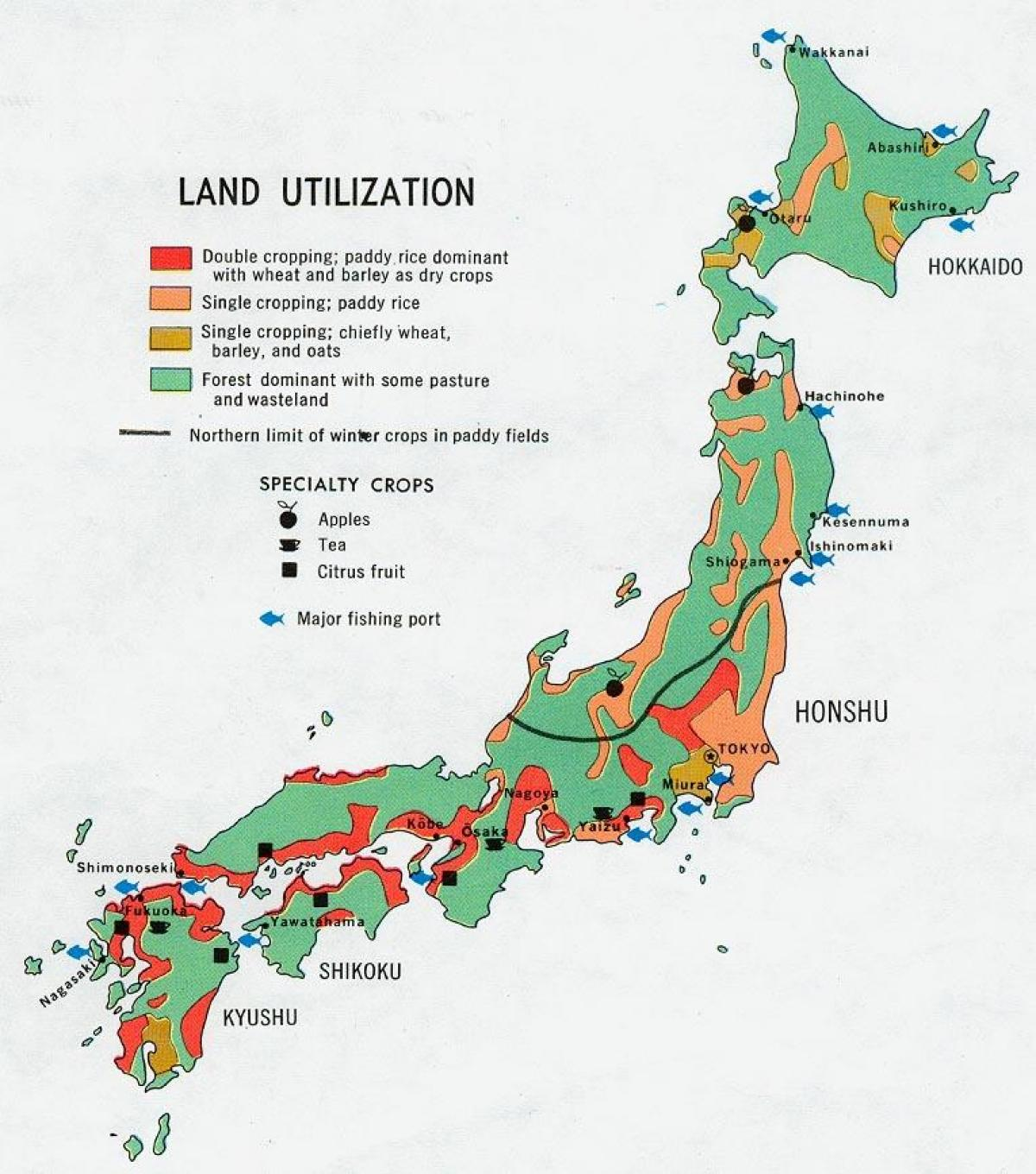 Japan Agriculture Map