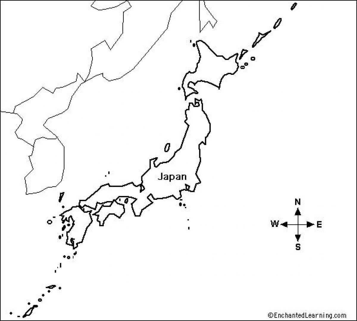 Japan Blank Map