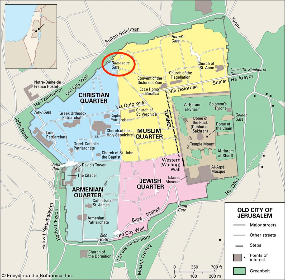 Damascus Gate Jerusalem Map
